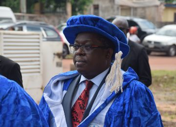 The Chairman of the Occasion for the 4th Distinguished Academic Lecture and the Managing Director of Access Bank Plc, Dr Herbert Wigwe ably represented by…..