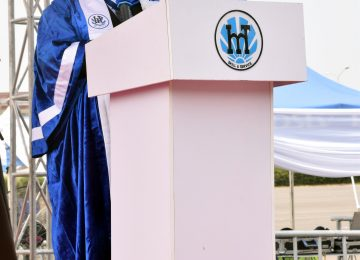 The Rector of the Institute, Prof. Austin Uche Nweze while reading his welcome address.
