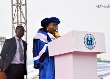 The Chairman of IMT Governing Council, Deaconess Ifeoma Nwobodo constituting the assembly into a Convocation of the Institute of Management and Technology, Enugu, for the Award of Fellowships, Higher National and National Diplomas and prizes.