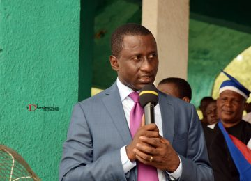 The All Progressive Congress Governorship Candidate for 2019 Election in Abia State and the owner of Masters Energy, Dr. Uche Ogah in a thank you speech for the honour done to him by the Institute. The FT Main Building was named after him.