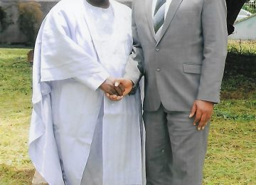 Prof Austin Uche Nweze Left with Mr John Evbodaghe FCA, Registrar CEO shortly after Courtesy Visit
