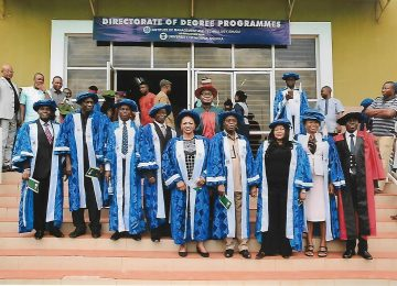 A cross sectionof Directors and Heads of Academic Departments shortly after the matriculation ceremony at the international.