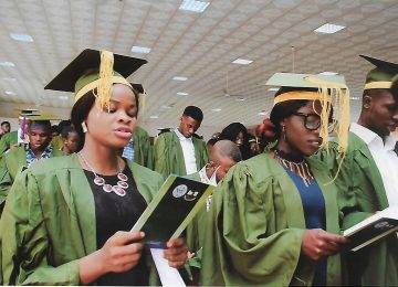 A cross section of the Matriculating students at the IMT, International Conference Centre, Campus 3, Enugu.