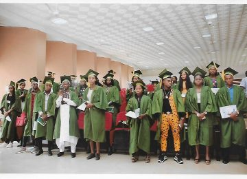 A cross section of the Matriculating Students at the International Conference Centre, IMT, Campus 3, Enugu.