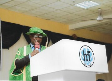 Barr. (Dr) Christopher C. Igbokwe, while addressing the Matriculating students at the International Conference Centre, IMT, Campus 3, Enugu.