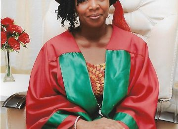 Dr (Mrs) Ogochukwu Okanya Deputy Director Degree Progamme during the matriculation ceremony at the International Conference Centre, Campus 3.