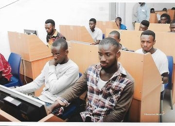 A cross section of the students during the scholarship examination.